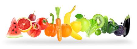 Foto für Color fruits and vegetables on white background. Food concept - Lizenzfreies Bild