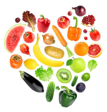 Foto für Heart of color fruits and vegetables. Food concept. Fresh food - Lizenzfreies Bild
