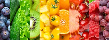 Photo for Colorful fruits, vegetables and berries. - Royalty Free Image