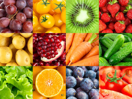 Photo for Background of fruits and vegetables. Fresh food - Royalty Free Image