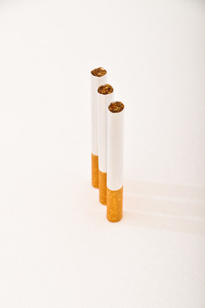 Typical filter cigarette isolated on white background