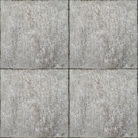 Photo for Gray colored square paving stone, tiled stone. Seamless, tile - Royalty Free Image