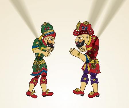 Illustration pour Turkish Culture, karagoz and hacivat - image libre de droit