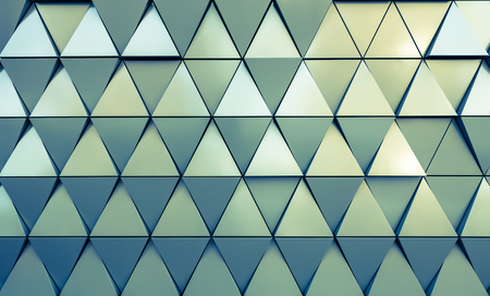 Photo for Abstract close-up view of modern aluminum ventilated triangles on facade - Royalty Free Image