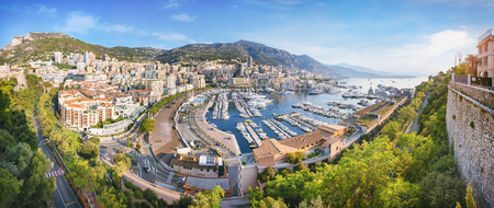 Photo for Monaco from above at sunrise - Royalty Free Image