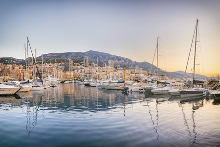 Photo for Yachts moored in Monaco - Royalty Free Image