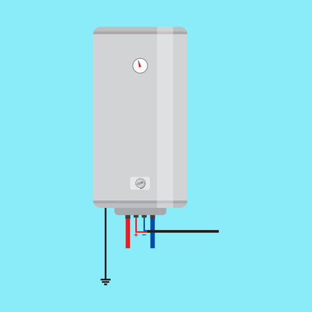 Electric water heater. Flat icon for  web design and application interface, also useful for infographics. Vector illustration.