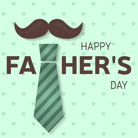Happy Father\'s Day greeting card. Happy Father\'s Day poster. Vector illustration.