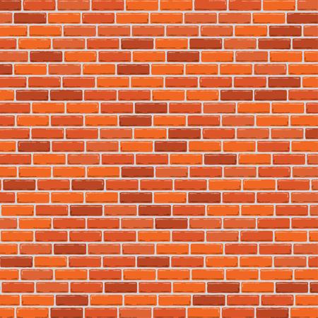 Illustration pour Red brick wall background. Vector illustration - image libre de droit