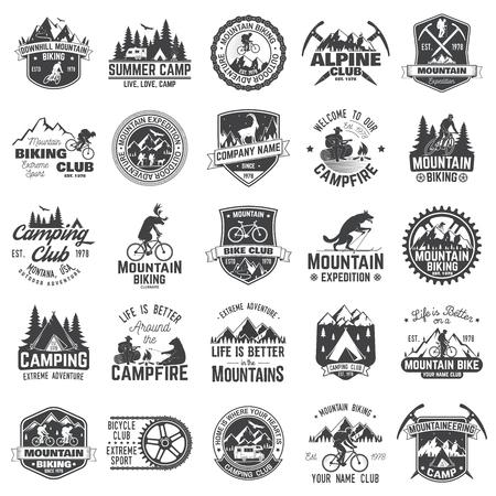 Ilustración de Set of extreme adventure badges. Concept for shirt or logo, print, stamp or tee. - Imagen libre de derechos