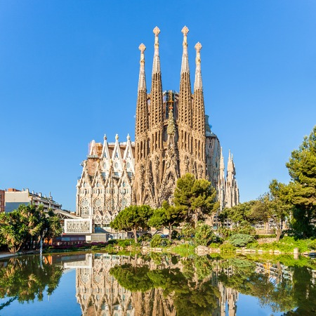 Foto de Expiatory Temple of the Holy Family, Sagrada Familia, Barcelona, Spain - Imagen libre de derechos