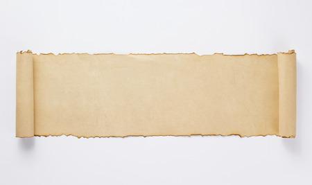 Photo pour old retro aged paper parchment  on white background, top view - image libre de droit