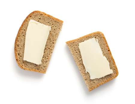 Sliced bread isolated on whiteの写真素材