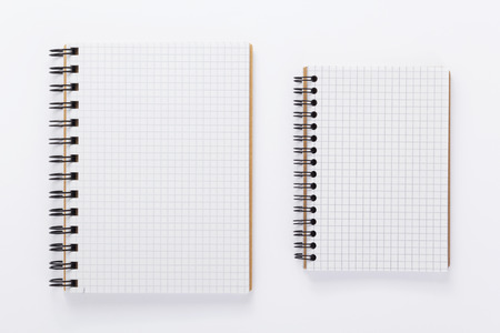 Photo pour paper notebook or note pad book at white background - image libre de droit