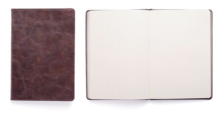 Photo pour notepad or notebook paper isolated at white background, top view - image libre de droit