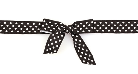 black ribbon with dots isolated on white