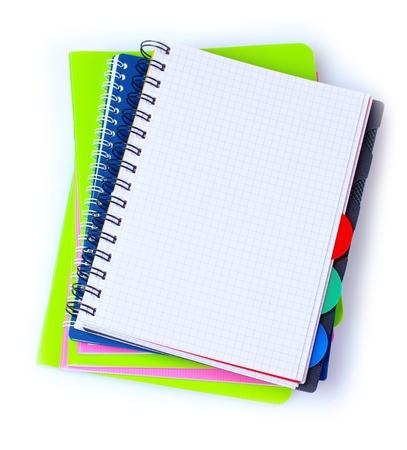 few notebooks isolated on white