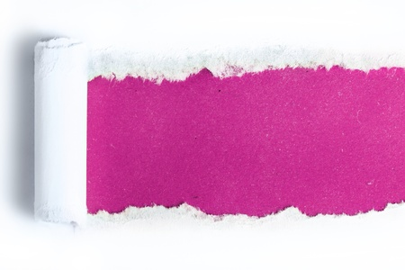 Torn paper  with pink background
