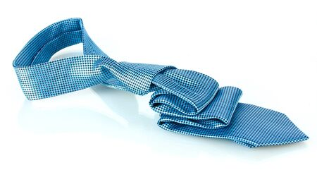Blue tie isolated on white