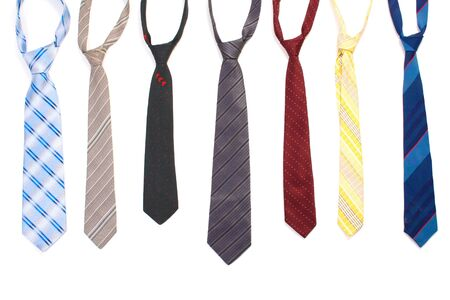 ties isolated on white