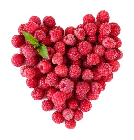 Foto für Ripe sweet raspberries isolated on white - Lizenzfreies Bild