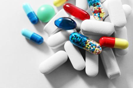 Photo pour Pile of pills, close-up - image libre de droit