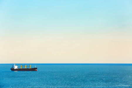 Photo for Beautiful seascape with ship on sunny day - Royalty Free Image