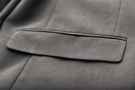 Photo pour Pocket on elegant male suit, closeup - image libre de droit