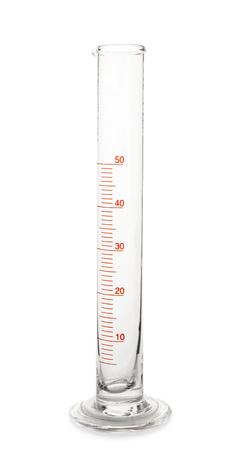 Photo for Graduated cylinder on white background - Royalty Free Image