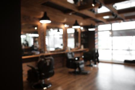 Foto de Blurred view of stylish hairdressing salon - Imagen libre de derechos