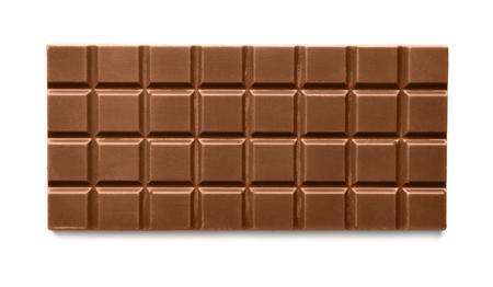Photo pour Milk chocolate bar on white background - image libre de droit