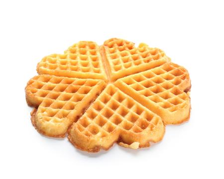 Photo pour Delicious waffles on white background - image libre de droit