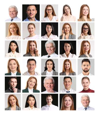 Photo pour Collage of different business people - image libre de droit
