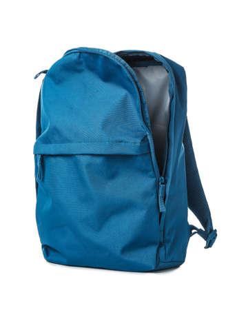 Photo pour Empty school backpack on white background - image libre de droit