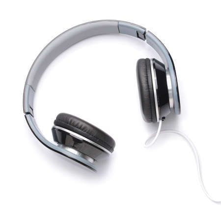 Photo for Modern headphones on white background - Royalty Free Image