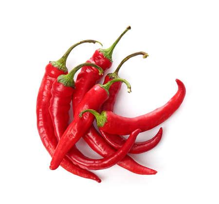 Foto für Red chili peppers on white background - Lizenzfreies Bild