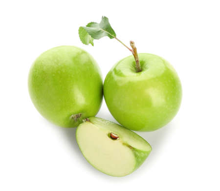 Photo for Fresh ripe apples on white background - Royalty Free Image