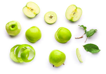Photo for Fresh ripe apples on light background - Royalty Free Image