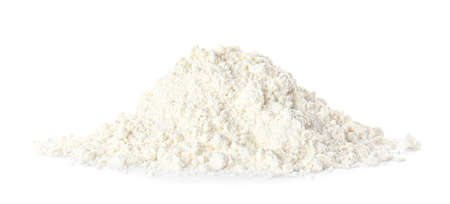 Photo for Heap of flour on white background - Royalty Free Image
