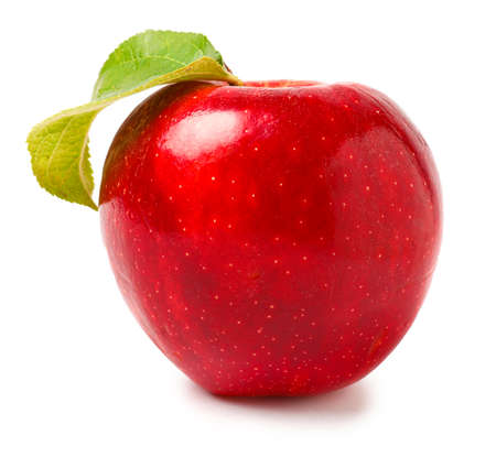 Photo for Fresh ripe apple on white background - Royalty Free Image