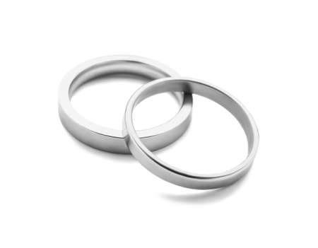 Foto für Pair of wedding rings on white background - Lizenzfreies Bild