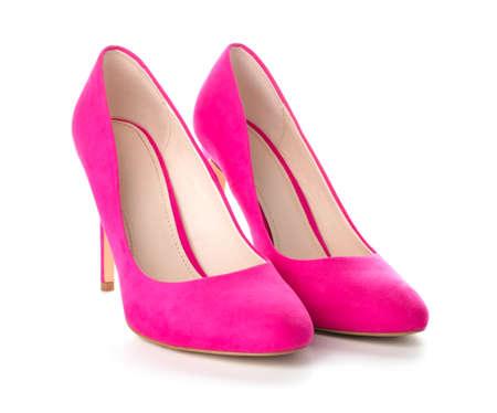 Photo pour Stylish female shoes on white background - image libre de droit