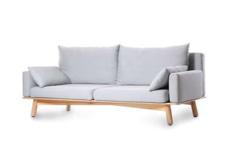 Photo pour Comfortable sofa on white background - image libre de droit