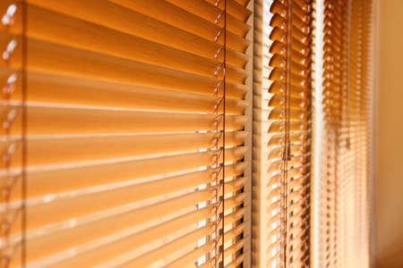 Photo pour Modern blinds hanging on window - image libre de droit
