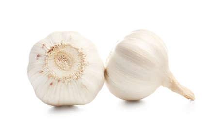 Photo for Fresh garlic on white background - Royalty Free Image