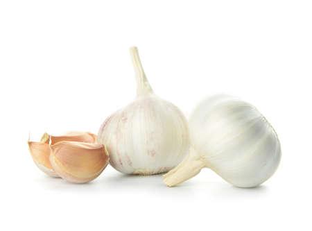 Foto für Fresh garlic on white background - Lizenzfreies Bild