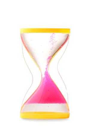 Photo pour Hourglass on white background. Time management concept - image libre de droit