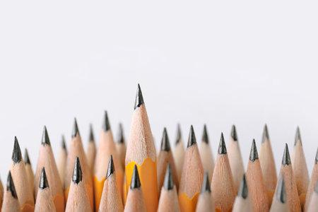 Photo pour Many pencils on light background - image libre de droit
