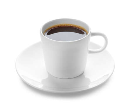 Photo for Cup of coffee on white background - Royalty Free Image
