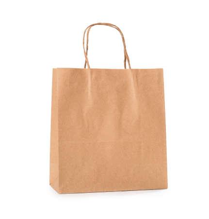 Photo pour Paper shopping bag on white background - image libre de droit